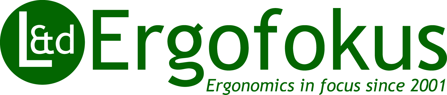 L&d Ergofokus logotyp Ergonomics in focus since 2001